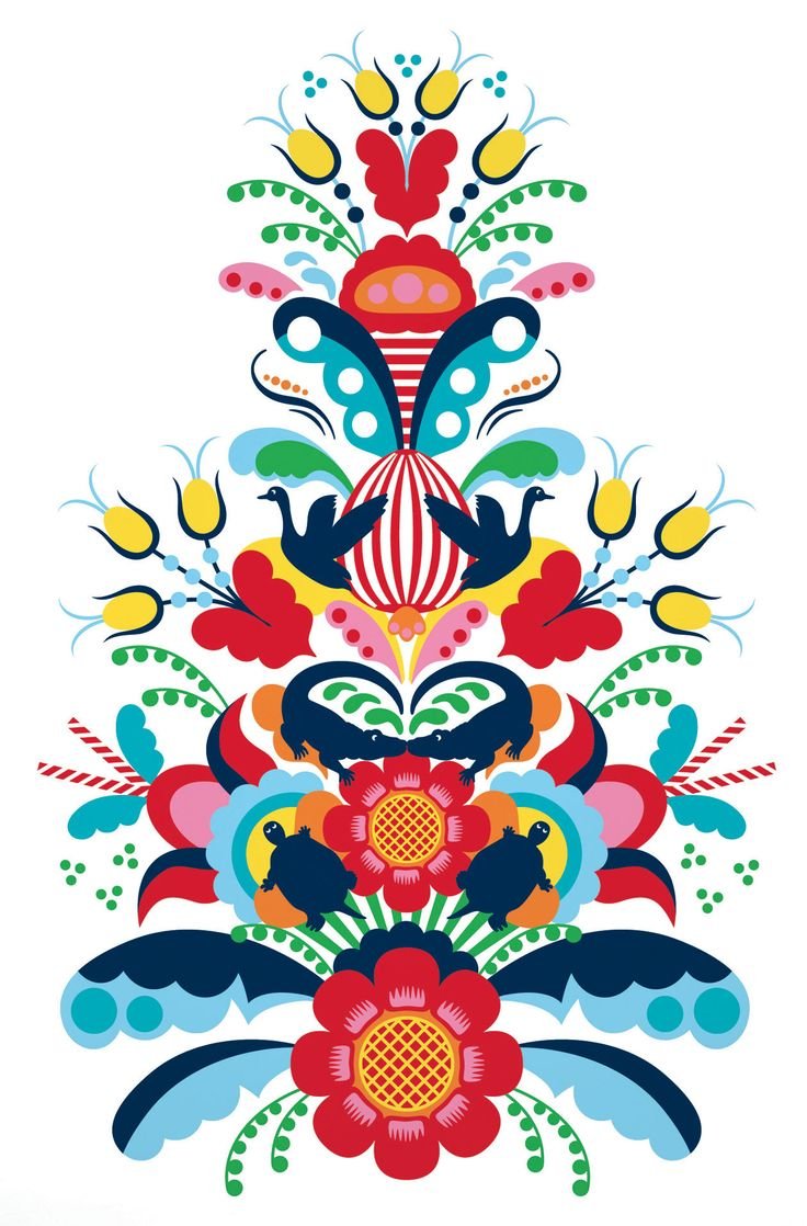 kurbits pattern- Like the turtles and colors