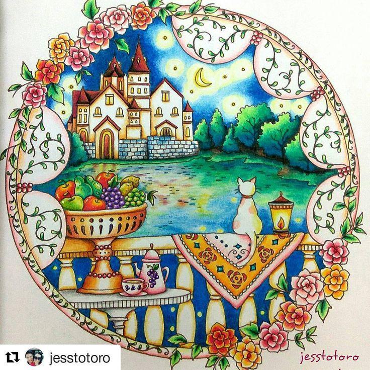 By Jesstotoro Romanticcountry Romanticcountrycoloringbook Lyra Coloring BooksAdult