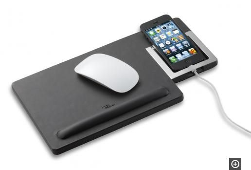 GIORGIO Mouse pad with a cell phone rest