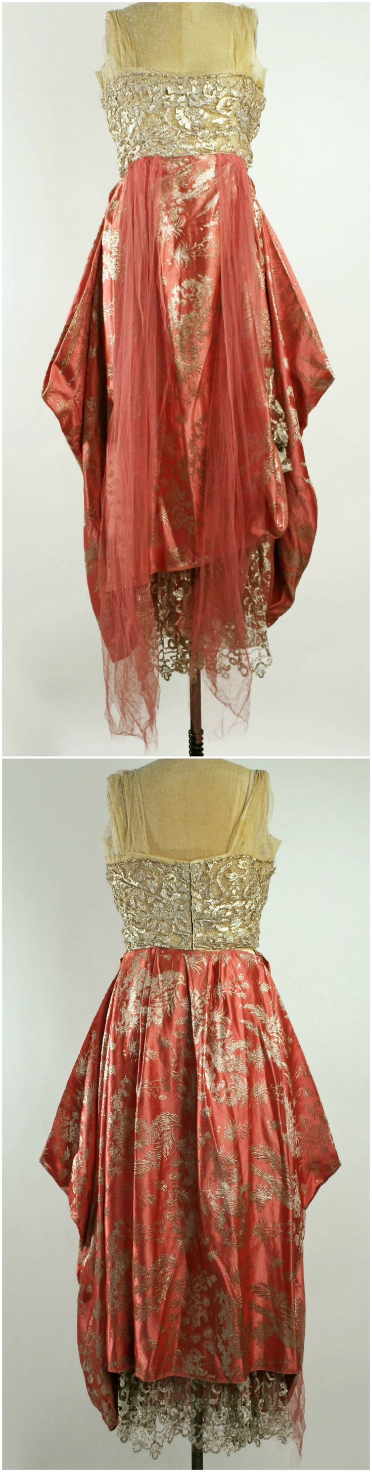 Evening dress by callot soeurs 1915 16 at the for Metropolitan museum of art fashion
