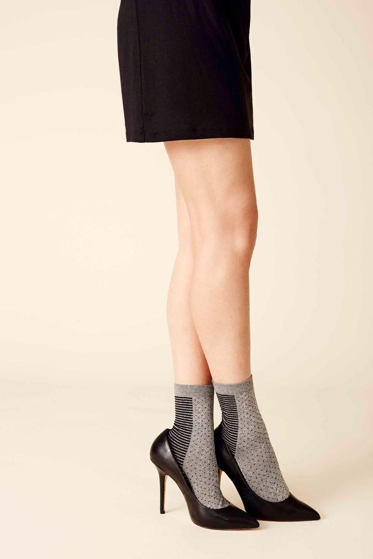 Lurex loop stripe MP sock