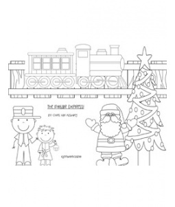 Polar Express Coloring Sheet