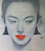 """Suspicious"" by Kowit Wattanarach  140x140cm Oil on Canvas  Sold"
