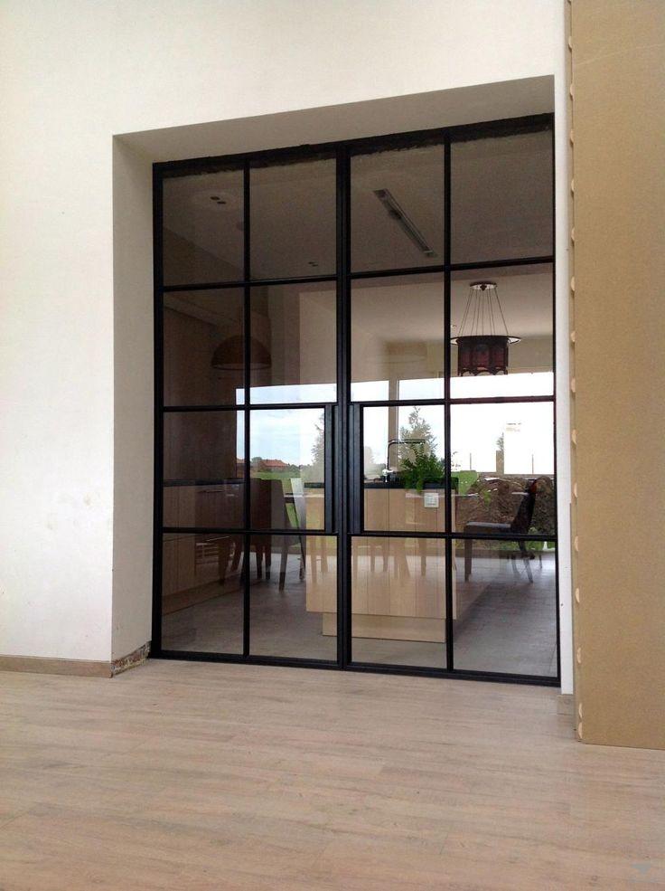 Smeedijzeren dubbele deur