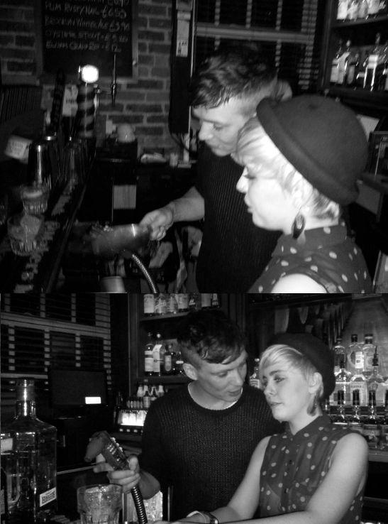 Cillian Murphy bartending at Peaky Blinders wrap party.