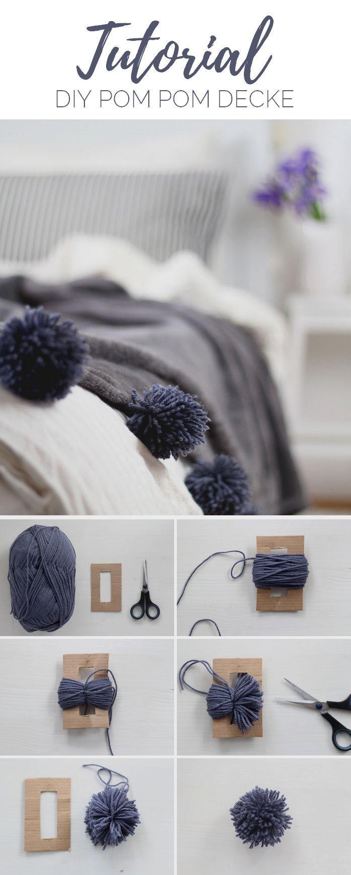 Einzel-schlafzimmer-wohndesign baby clothing diy decke mit pompons selber machen  baby clothing