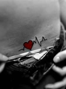 Heartbeat tattoo ---- In loving memory of the guy I fell in love with. <\3
