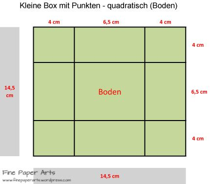 Kleine Box mit Punkten quadratisch (Boden)