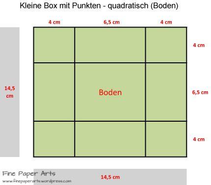 kleine box mit punkten quadratisch boden handwerk. Black Bedroom Furniture Sets. Home Design Ideas