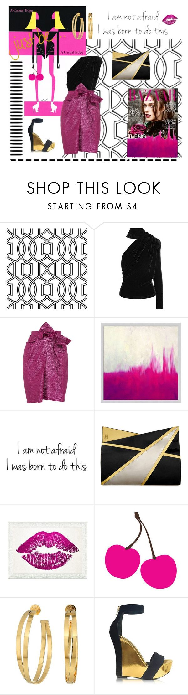 """Untitled #319"" by astylemave on Polyvore featuring Wall Pops!, Gareth Pugh, Lanvin, Pottery Barn, Jill Haber, Oliver Gal Artist Co., Avalisa, Tory Burch, Balmain and contestentry"