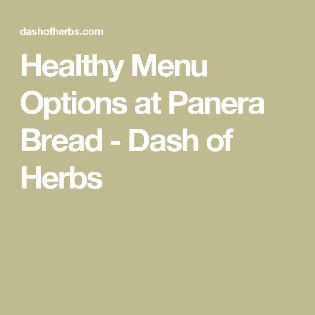 Healthy Menu Options at Panera Bread - Dash of Herbs