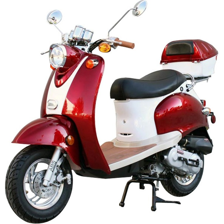 50cc Retro Scooter-Alloy Rims | Things I Want | Pinterest ...