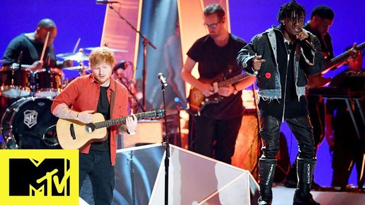 Ed Sheeran Ft. Lil Uzi Vert Perform 'Shape of You' & 'XO Tour Llif3' - VMAs 2017 - YouTube