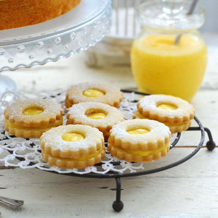Lemon Curd Shortbread Biscuits