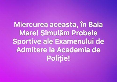 TAG pe cineva din Baia Mare sau din Judetul Maramures!  Pentru mai multe detalii accesati Academiadepolitie.com - Pregatire Intensiva Examen Admitere  #academiadepolitie