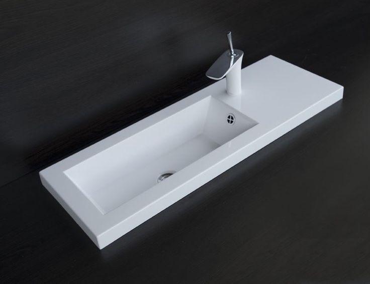 białe umywalki : Umywalka SLIM 90 x 31 lewa
