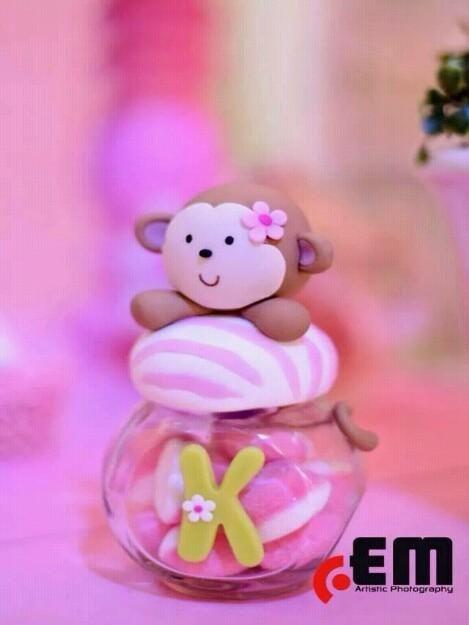 Mono en porcelana fria