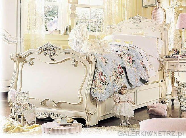 Któż nie mógłby zakochać się w tak pięknej sypialni. Jej romantyczne spojrzenie ...