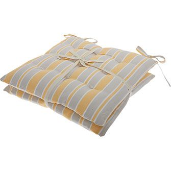 Set Of Two Grey Seat Pads 40x40cm