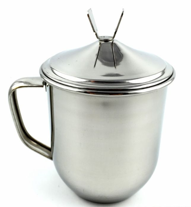 Cup Coffee Tea Stainless Steel With Handle Camping Travelling Mug - Mugs, Cups