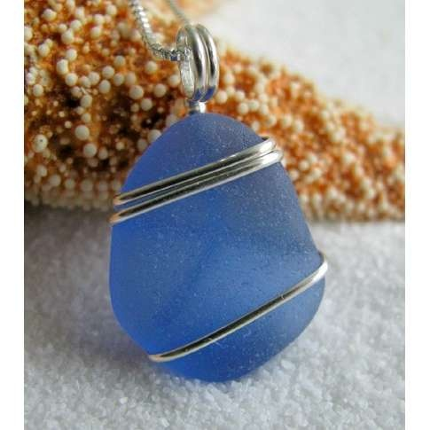 blue sea glass pendant #sea glass beads & #sea charms: http://www.ecrafty.com/c-780-sea-glass-beads.aspx?pagenum=1===newarrivals=60