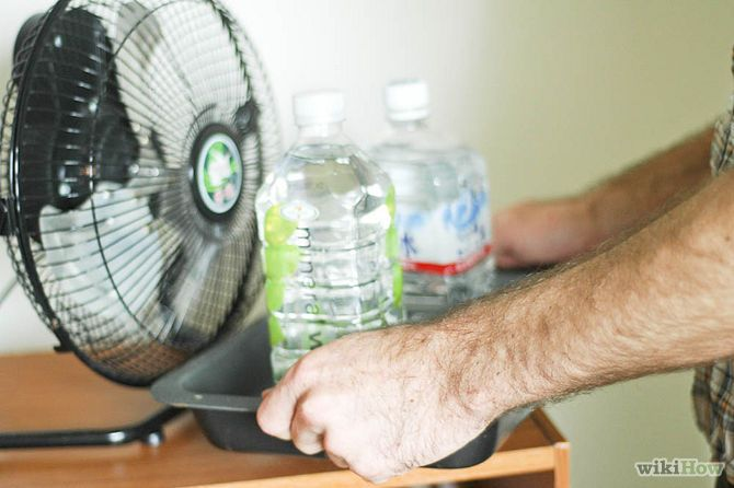 Fan + 2 Water Bottles = AIR CONDITIONER? It's too easy: Make a Homemade Air Conditioner from a Fan and Water Bottles via wikiHow.com
