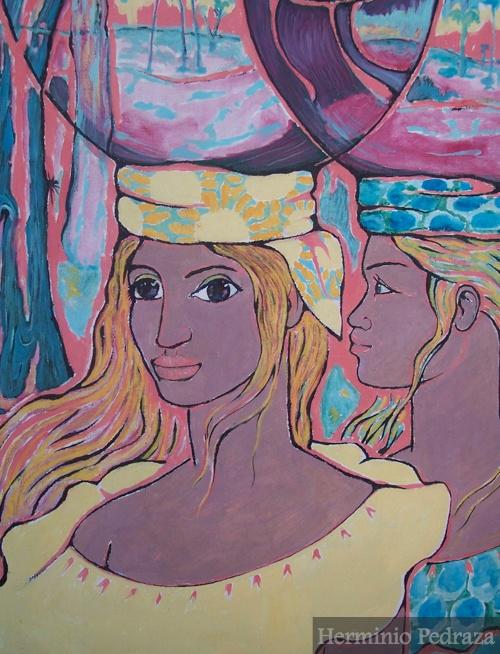 """Ojos de güapuru"" Herminio Pedraza Oil on canvas 80x120cm"