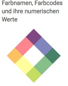 Farbnamen, Farbcodes und ihre numerischen Werte von mediaevent.de
