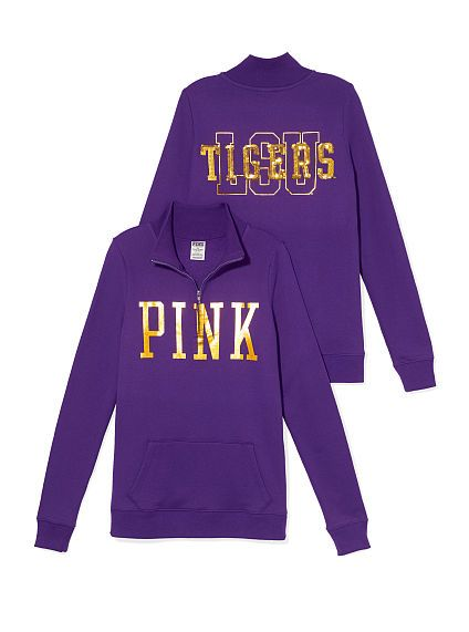 LSU Bling Half-zip Pullover PINK /victoria secret
