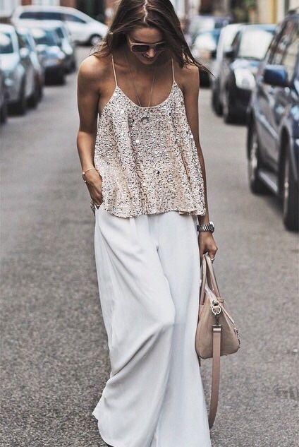| Pantalona Branca + Paetês! |