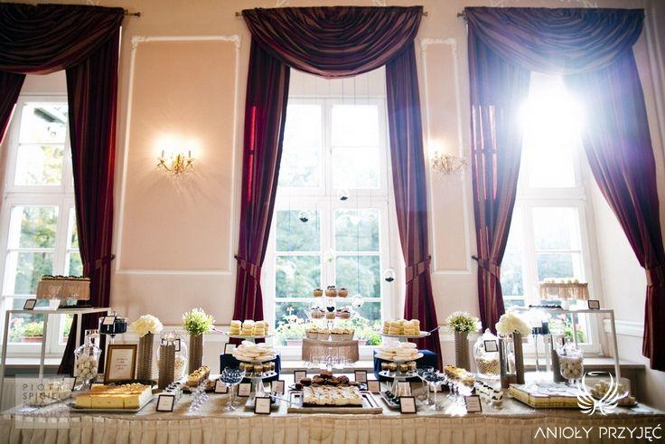 1. Platinum Gold Wedding, Sweet buffet / Platynowo złote wesele, Słodki bufet, Anioły Przyjęć