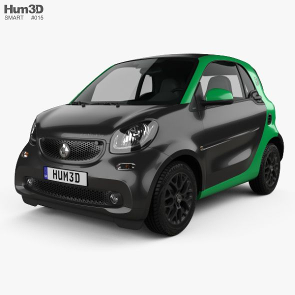 Smart Fortwo Electric Drive Coupe 2017 Smart Fortwo Car Car 3d