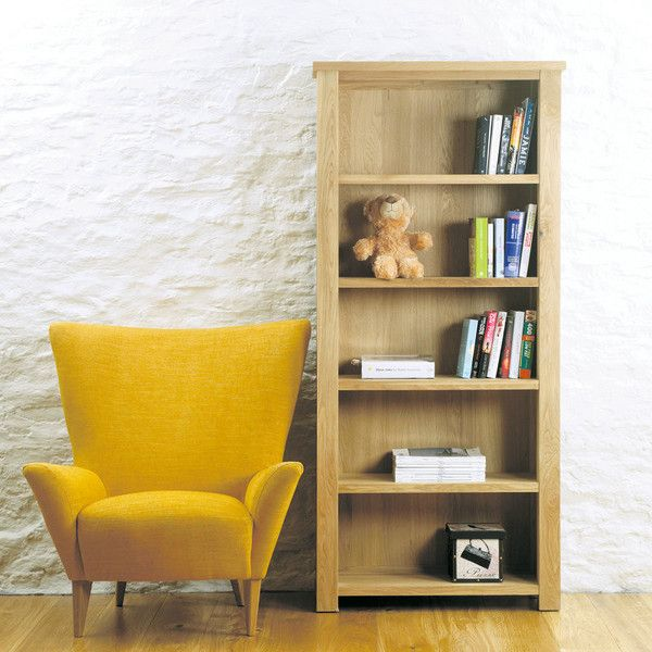 Aston Solid Oak Large Open Bookcase