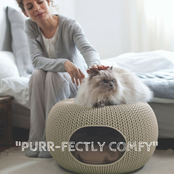 A stylish & snug nook - perfect for cats and small dogs. Supplied with 2 cushions, easy to clean, compact & modern - the Cozy Pet Home is both beautiful and functional. Modern design and neutral sand-coloured palette ensures that your pets home will blend in seamlessly within your living space  http://za.keter.com/562388