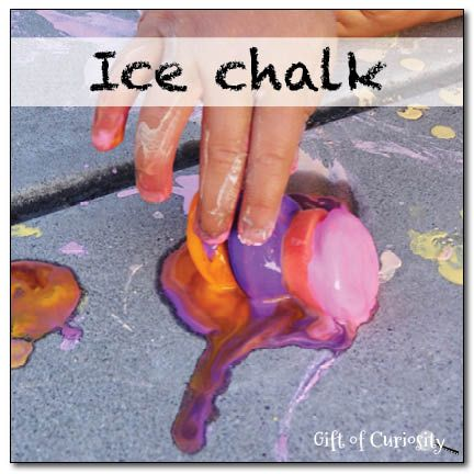 Ice chalk - a frozen sensory art experience! - Gift of Curiosity