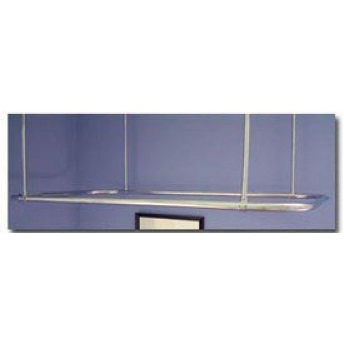 Rectangular Ceiling Mount Shower Curtain Rod   Shower Curtain Rods    Bathroom