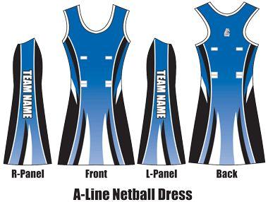 4d06eafc304 A-Line Netball Dress | Netball dresses | Netball dresses, Netball uniforms,  Netball