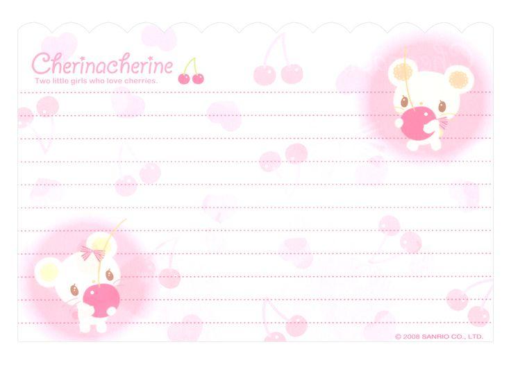 Cherinacherine - Sanrio - Letter paper