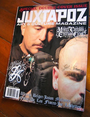 Selling my prized, lovingly worn $5 Juxtapoz issue featuring Mister Cartoon and Estevan Oriol. Dig it on eBay.: Mister Cartoon