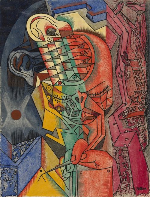 djinn-gallery:Alfred Pellan, L'Homme A grave, vers 1948