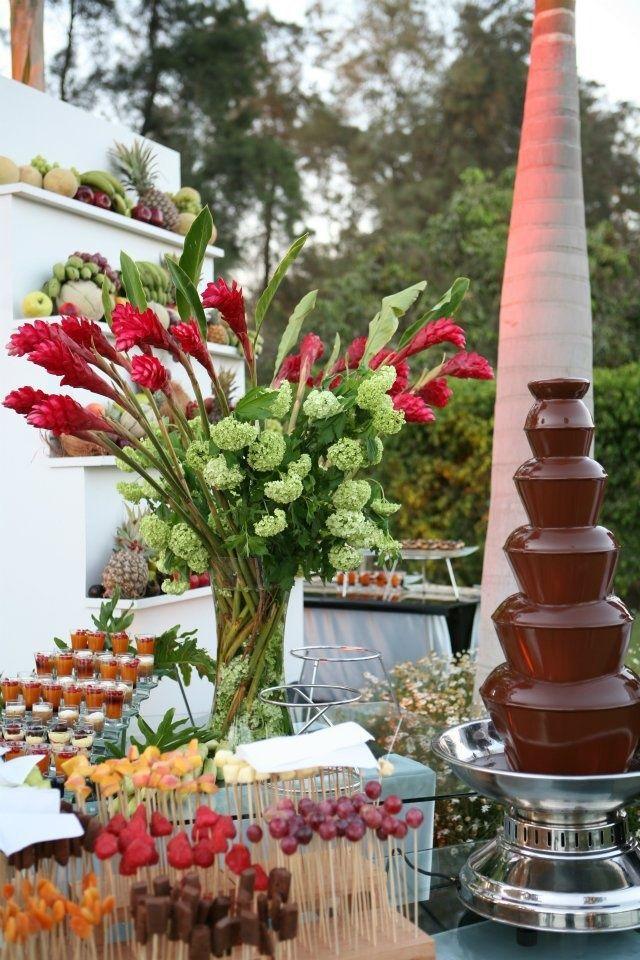 chocolate fountain wedding #chocolatefavors #chocolatewedding