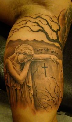 ... graveyard tattoos graveyard and cemetery tattoos 2 more crazy tattoos