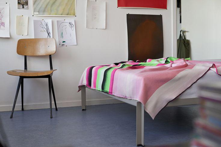 Mustergültig: die Colour Plaid Decke von Hay im Streifendesign