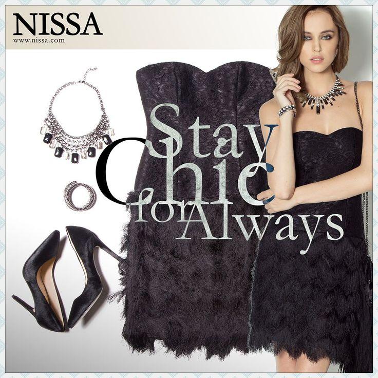 http://goo.gl/SjVYTy  #nissa #outfit #chic #classy #sleek #fashion #style #look #evening #partywear #black #necklace #bracelet #shoes #heels #pantofi #bratara #colier #fashionista