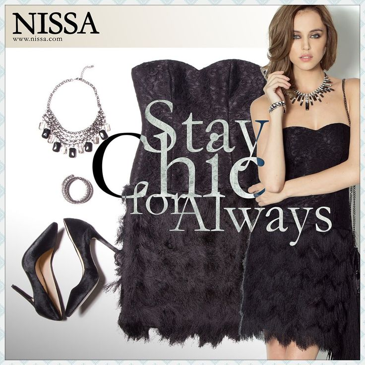 http://goo.gl/SjVYTy  #nissa #outfit #chic #classy #sleek #fashion #style #look #evening #partywear #black #necklace #bracelet #shoes #heels #pantofi #bratara #colier #fashionista