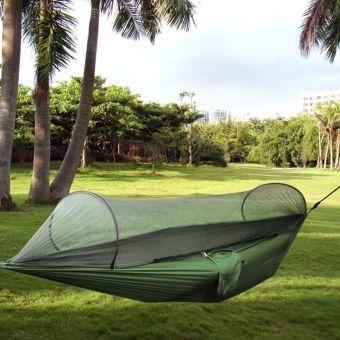อย่าช้า  Outdoor Parachute Cloth Fabric Hammock With Mosquito Nets SinglePerson Hammock Swing - Intl  ราคาเพียง  1,139 บาท  เท่านั้น คุณสมบัติ มีดังนี้ Color: Army Green Material: Parachute Cloth + Mesh; Brand: Traveler Product Size: 250&x 120cm& With Mosquito Net to Keep Insect outside Bearing: 200KG Storage size: 30 x&25cm For Outdoor Picnic, Travel, Adventure, Family Recreation,Camping, Outing