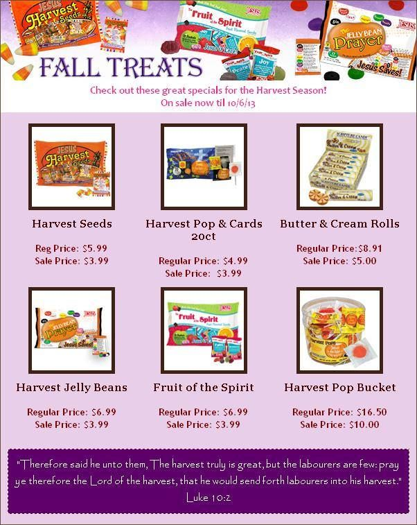 Check out the fall/halloween candy we have on sale for a short time! Hurry and stock up on everything you need for the Harvest season! Sale good through 10/06/13.