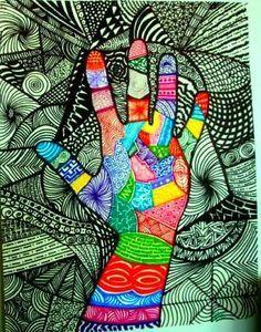 mano con diseño
