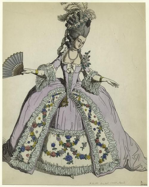 Bridal Fashion Plate | c. 1770s                                                                                                                                                     More