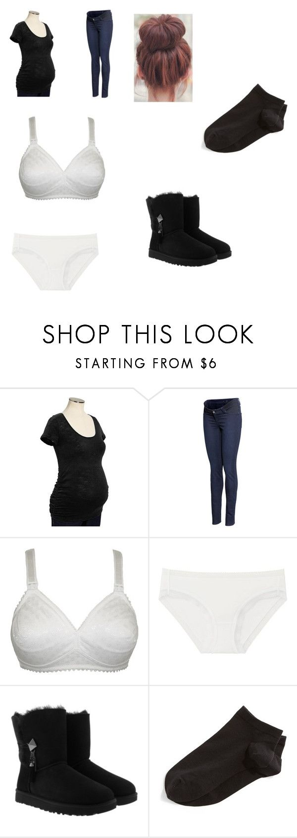 """""""Untitled #417"""" by sharotto53 ❤ liked on Polyvore featuring Old Navy, H&M, Naturana, Uniqlo, UGG and Wolford"""